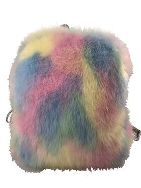 Girls Faux Fur Backpack