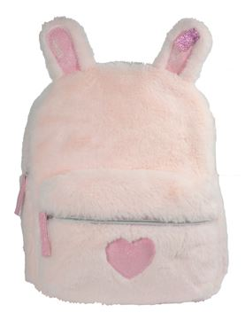 Girls Faux Fur Bunny Backpack