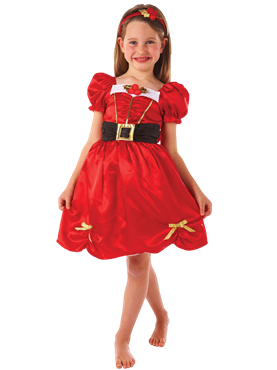 Child Girls Miss Santa Costume Couples Costume
