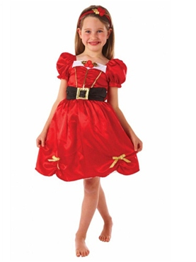 Child Girls Miss Santa Costume