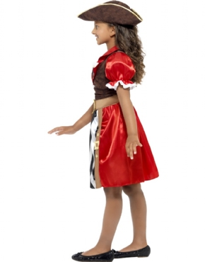 Child Pirate Captain Costume - Back View
