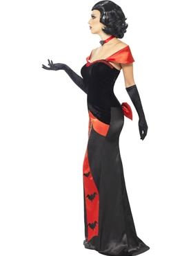 Adult Glam Vampiress Costume - Back View
