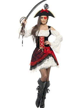 Adult Glamorous Lady Pirate Costume
