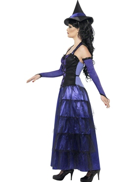 Adult Glamorous Witch Costume - Back View