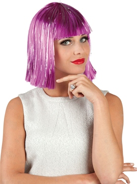 Glamour Wig Purple & Silver