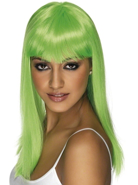 Glamourama Wig Neon Green