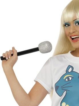 Glitter Microphone Silver