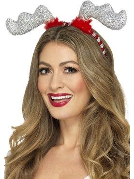 Glitter Reindeer Antler Headband
