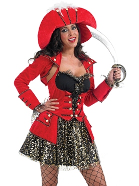 Adult Glitzy Pirate Costume
