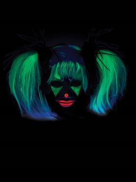 Glow In The Dark Punk Pigtails - Side View