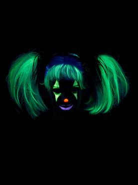 Glow In The Dark Punk Pigtails - Back View
