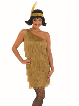 Adult Gold Flapper Dress Costume
