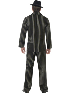 Adult Gold Pinstripe Gangster Costume - Side View
