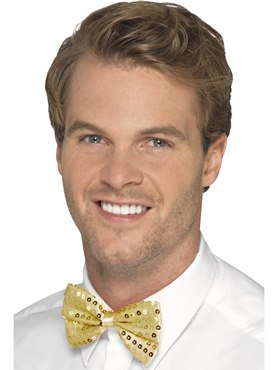 Gold Sequin Bow Tie