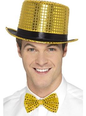 Gold Sequin Top Hat