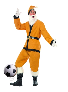 Adult Gold Sport Santa Costume