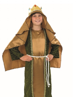 Child Gold Wise Man Costume - Back View