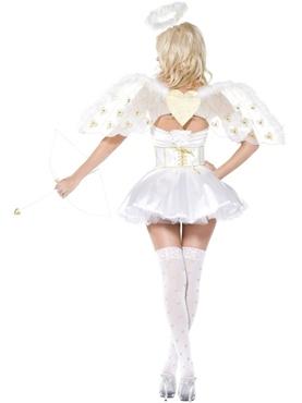 Golden Heart Angel 5piece Costume - Side View