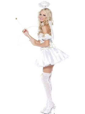 Golden Heart Angel 5piece Costume - Back View