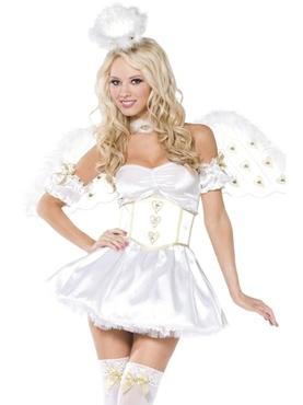 Golden Heart Angel 5piece Costume