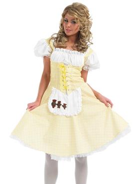 Adult Goldilocks Long Dress Costume