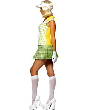Adult Gone Golfing Ladies Costume - Side View