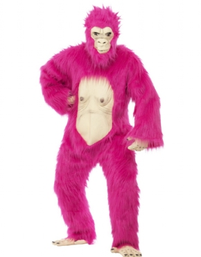 Adult Deluxe Pink Gorilla Costume