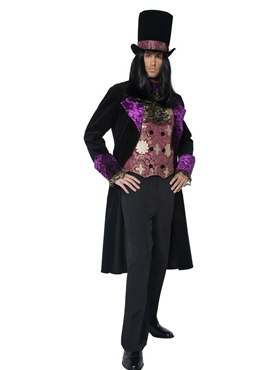 Adult Deluxe Gothic Manor Count Costume - Back View