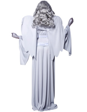 Adult Gothic Manor Cemetery Angel Costume - Back View