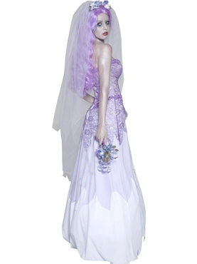 Adult Gothic Manor Ghost Bride Costume - Side View