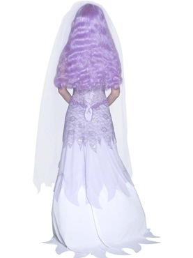 Adult Gothic Manor Ghost Bride Costume - Back View
