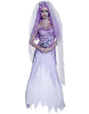 Adult Gothic Manor Ghost Bride Costume Thumbnail