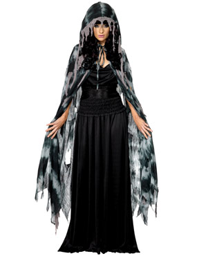 Adult Gothic Manor Ghost Cape
