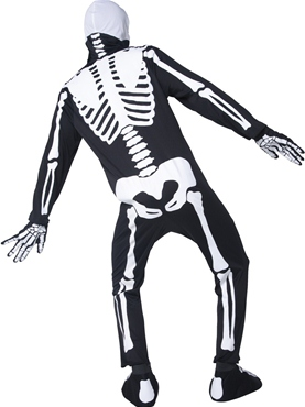 Adult Glow in the Dark Bones Costume - Side View