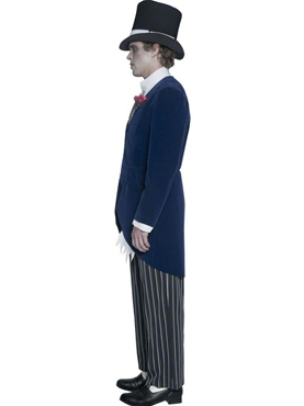 Adult Gothic Manor Groom Costume - Back View