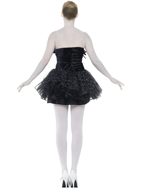 Adult Gothic Swan Masquerade Costume - Side View