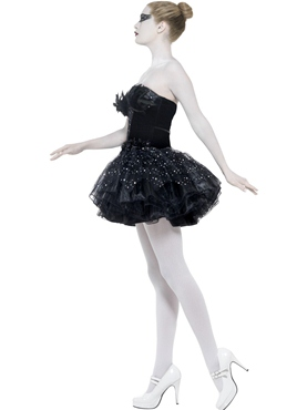 Adult Gothic Swan Masquerade Costume - Back View