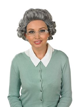 Adult Granny Wig with Glasses