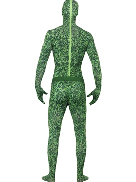 Adult Grass Pattern Second Skin Costume - Side View
