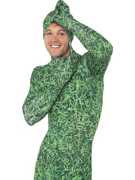 Adult Grass Pattern Second Skin Costume - Back View