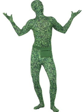 Adult Grass Pattern Second Skin Costume