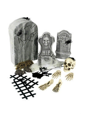 24 Piece Graveyard Collection Decorations