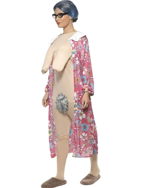 Adult Gravity Granny Costume - Back View