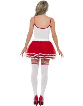 Adult 118 Marathon Runner Woman Costume - Side View