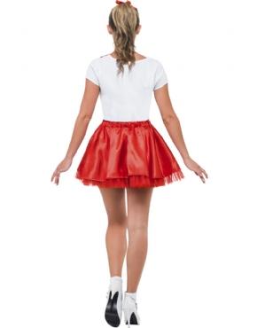 Adult Grease Sandy Cheerleader Costume - Side View