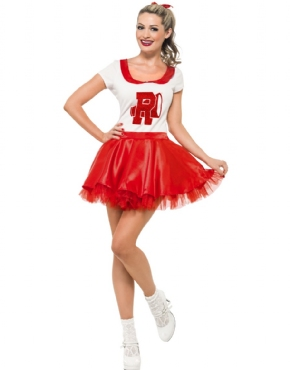 Adult Grease Sandy Cheerleader Costume
