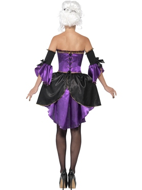 Adult Midnight Baroque Masquerade Costume - Side View