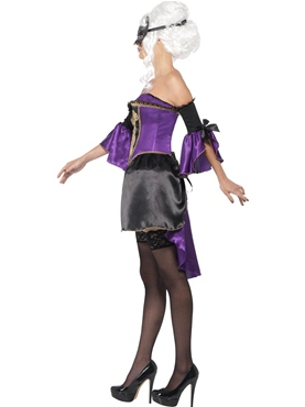 Adult Midnight Baroque Masquerade Costume - Back View