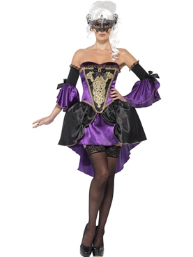 Adult Midnight Baroque Masquerade Costume