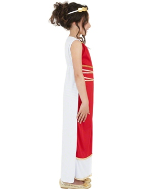 Child Grecian Girl Childrens Costume - Back View